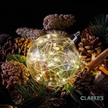 10 Micro LED Christmas Battery CrystaLight Orb Bauble 10cm