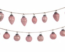 Pink Glass Bauble Garland