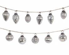 Silver Glass Bauble Garland