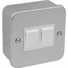 2 Gang 2 Way Metal Clad Switch