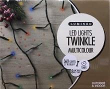 Lumineo Twinkle 360 LED (27m) Christmas Multicolour Lights