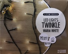 Lumineo Twinkle 360 LED (27m) Christmas Warm White Lights