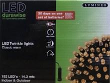 Lumineo Durawise 192 LED (14.3m) Battery Christmas Lights Warm White