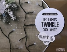 Lumineo Twinkle 360 LED (27m) Christmas Cool White Lights