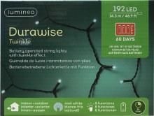 Lumineo Durawise 192 LED (14.3m) Christmas Battery Cool White Lights