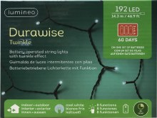 Lumineo Durawise 192 LED (14.3m) Christmas Battery Cool White Lights