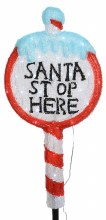 "Lumineo 30 LED (67cm) Christmas ""Santa Stop Here"" Sign Light"