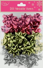 20 Metallic Bows