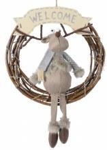 Rattan Wreath with Deer