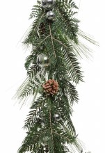 Garland With Baubles 175cm