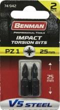 Benman Impact Bits Pozi PZ1