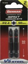 Benman Impact Bits Pozi PZ2 50mm