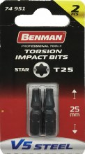 Benman Impact Bits Star T25