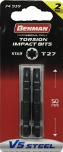 Benman Impact Bits Star T27 50mm