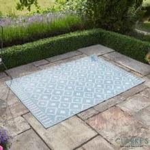 Alfresco Blue Ornament Outdoor Rug 120 x 180cm
