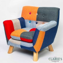 Annah Linen Patchwork Kids Chair