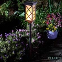 Arezzo Flaming Torch - Garden Solar Stake Light