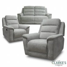 Ashford Recliner 3+1+1 Sofa Suite Light Grey