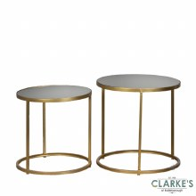 Avery Gold Mirrored Side Tables | Set of 2