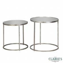 Avery Mirrored Side Tables. Set of 2