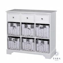 Boston Storage Cabinet 3 Drawers 6 Baskets