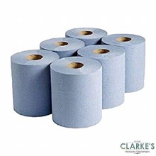 Blue Paper Rolls Pack of 6