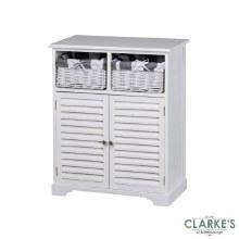 Boston 2 Door 2 Basket Storage Cabinet