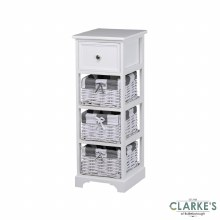 Boston 1 Drawer 3 Basket Storage Cabinet