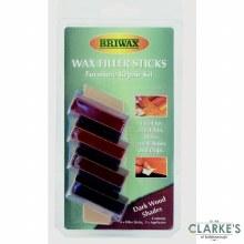 Briwax Wax Furniture Repair Filler Sticks Dark Wood Shades