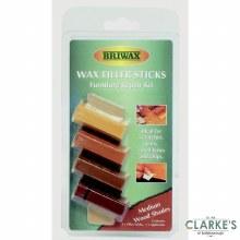 Briwax Wax Furniture Repair Filler Sticks Medium Wood Shades