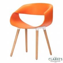 Celine Ribbon Curl Orange Chair