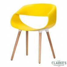 Celine Ribbon Curl Yellow Chair