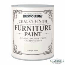 Rust-Oleum Chalky Finish Furniture Paint Antique White 125 ml