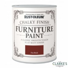 Rust-Oleum Chalky Finish Furniture Paint Fire Brick 125 ml
