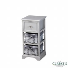 Chester 1 Drawer 2 Basket Storage Cabinet Grey