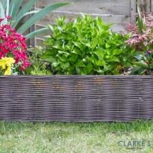 DecorEdge Rattan Effect Garden / Lawn Edging 35cm Brown