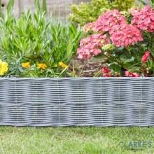 DecorEdge Rattan Effect Garden / Lawn Edging 35cm Slate