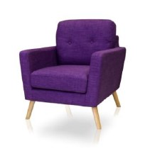 Cleo Accent Chair Auburgine Colour