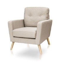 Cleo Accent Chair Beige Colour