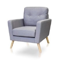 Cleo Accent Chair Grey Colour