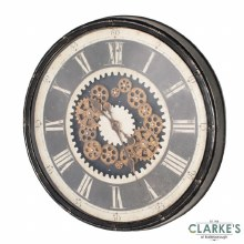 Clockworks Gears Wall Clock Grey 76cm