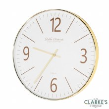 Clockworks Gold Modern Mirror 50cm