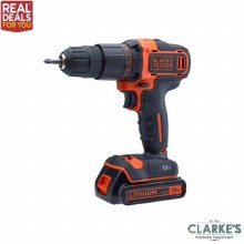 Black & Decker 18v Cordless Drill with 120 Piece Accessory Set