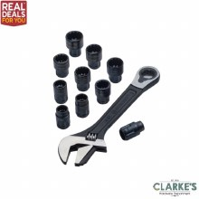 Crescent X6 Pass-Thru Adjustable Wrench Set 11 Piece