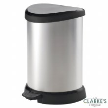 Curver Deco D-Shape Pedal Bin 20 Litre