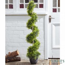 CypressTopiaryTwirl Tree - Faux Garden Decor 120cm