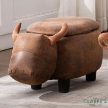 Daisy Bull Stool with Storage