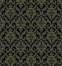 Carpet Damask Black/Sand