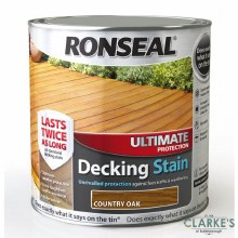 Ronseal Country Oak Ultimate Protection Decking Stain 2.5 Litre