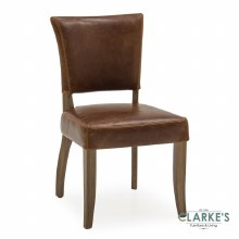 Duke Leather Dining Chair Tan Brown